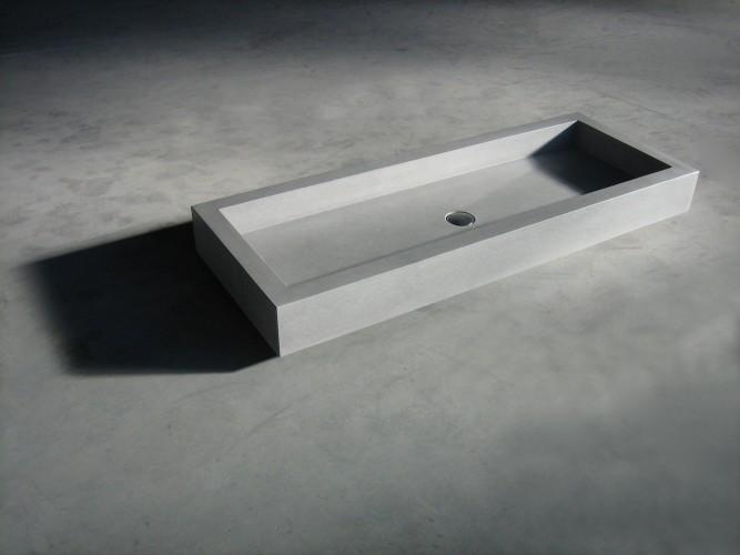 Keuken keuken met betonnen blad : Los exemplaar betonnen wastafel Flevoland 100A lichtgrijs: Betonnen ...
