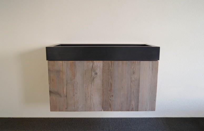 Wastafel Van Beton : Wastafel beton zelf maken lovely stoere badmeubels van hout en