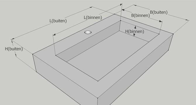 Matenschets wasbak Zeeland | Betonnen wasbak | SolidDutch Beton