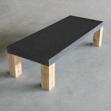 Betonnen tafel maken