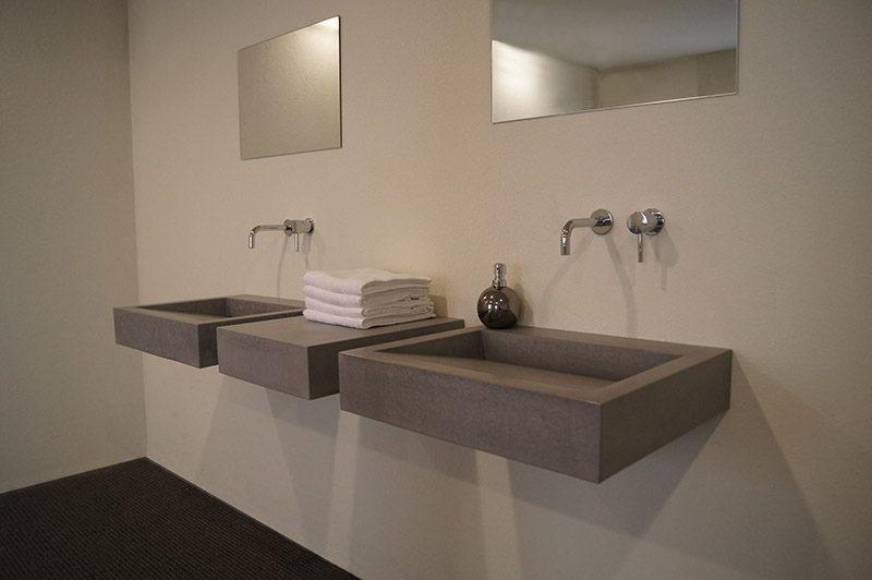 Design wasbakken van beton betonnen wasbak soliddutch